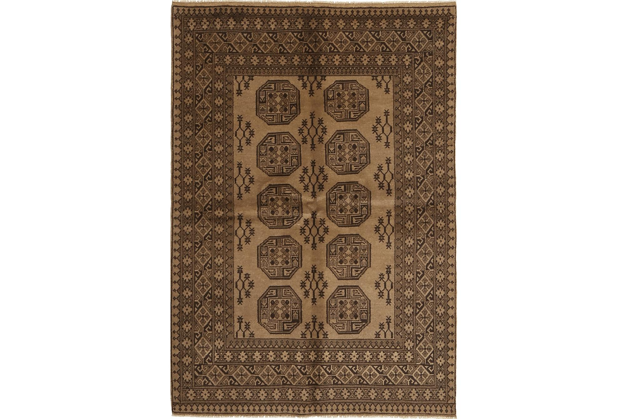 AFGHAN Matta 162x241 Stor Brun, Orientaliska mattor