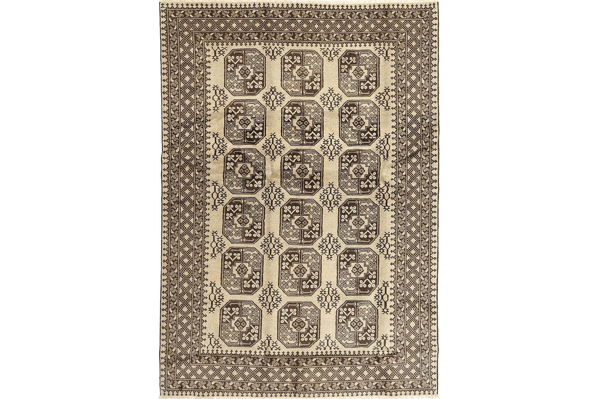 AFGHAN Matta 188x269 Stor Beige, Orientaliska mattor