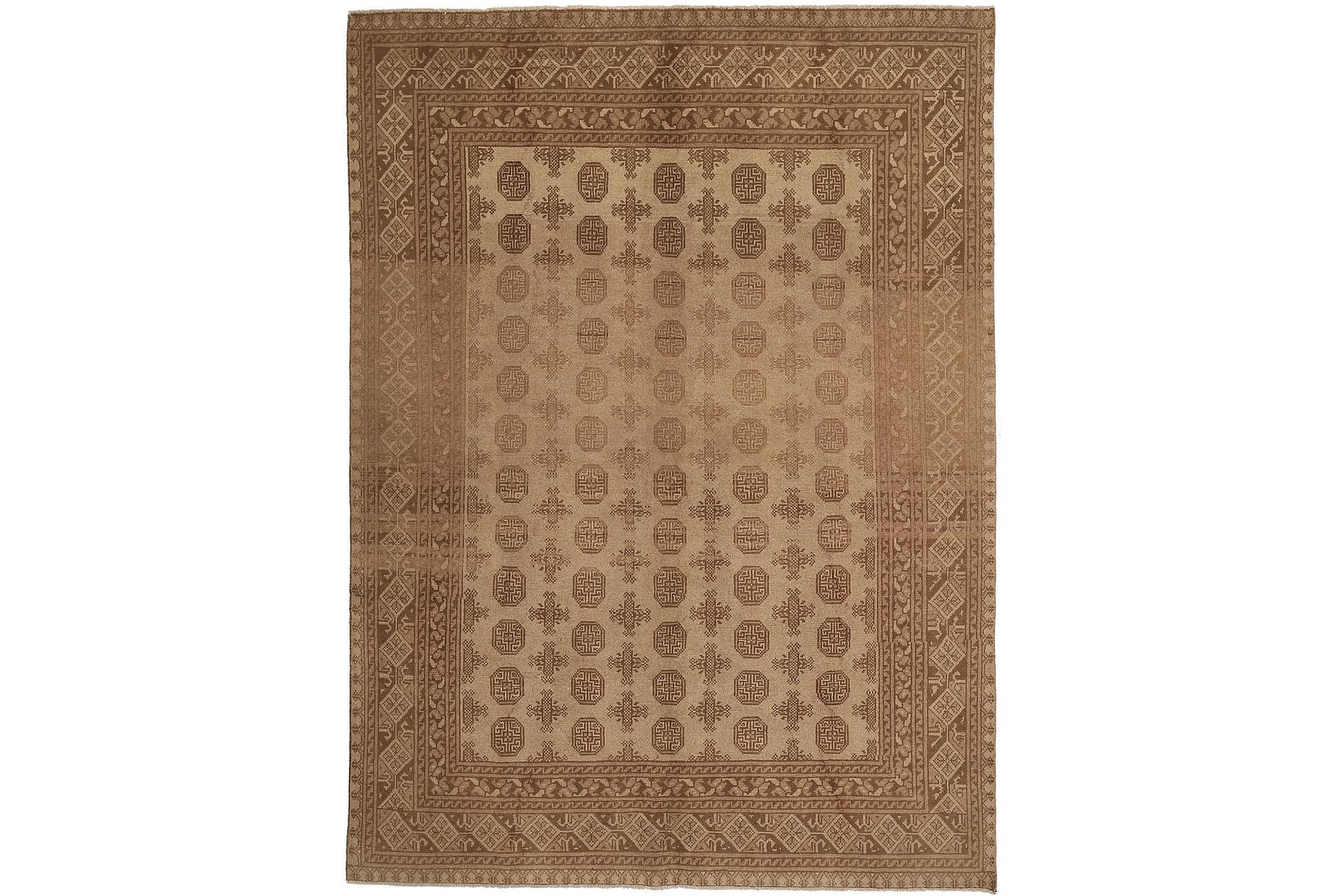 AFGHAN Matta 191x271 Stor Beige/Brun, Orientaliska mattor