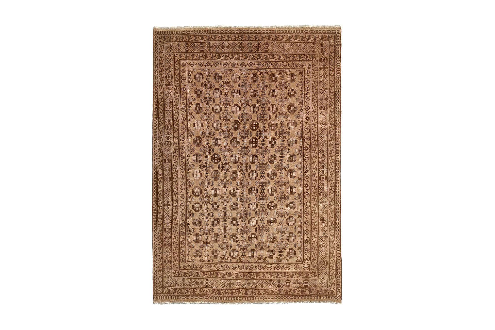 AFGHAN Matta 192x286 Stor Brun, Orientaliska mattor