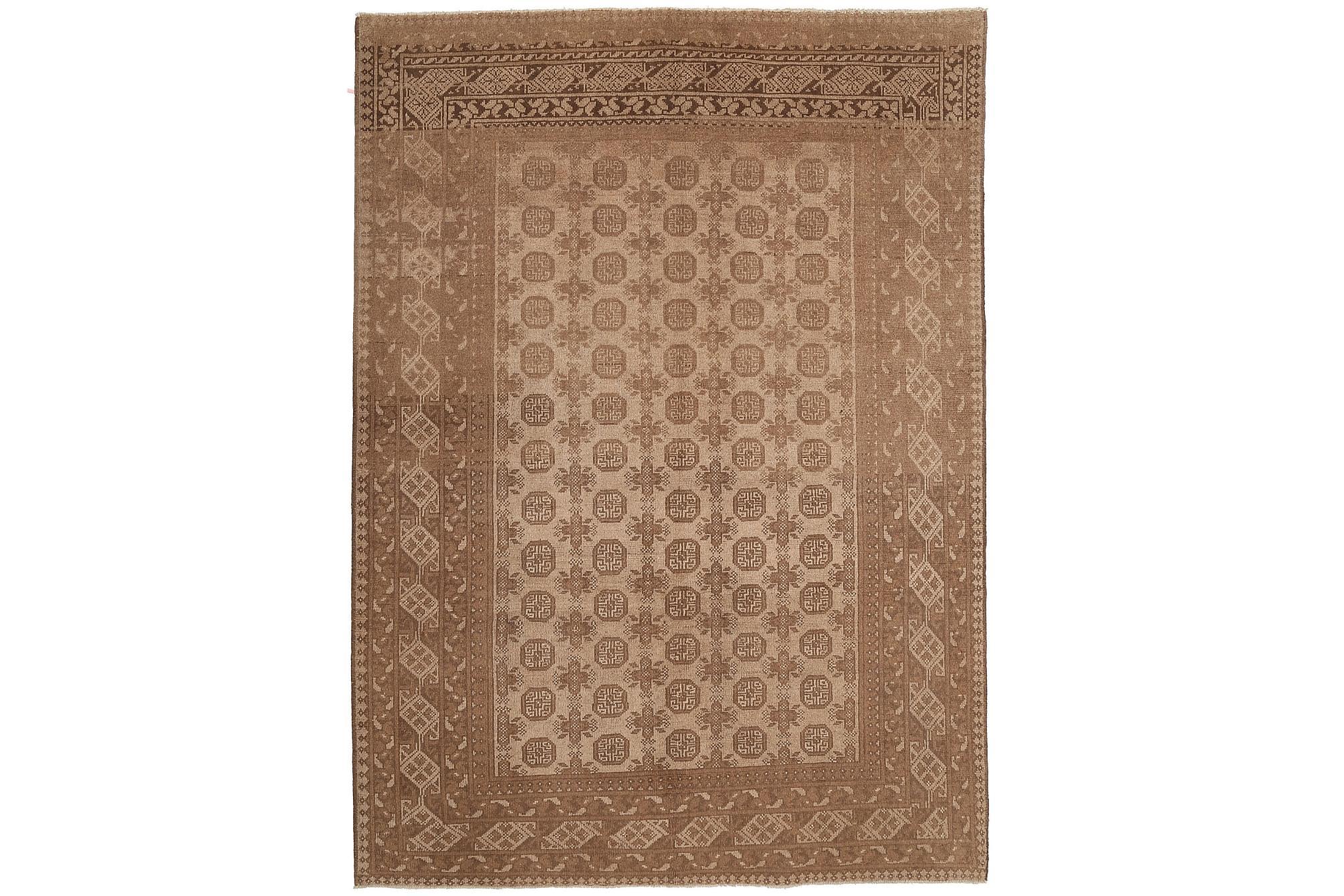 AFGHAN Matta 196x277 Stor Beige/Brun, Orientaliska mattor