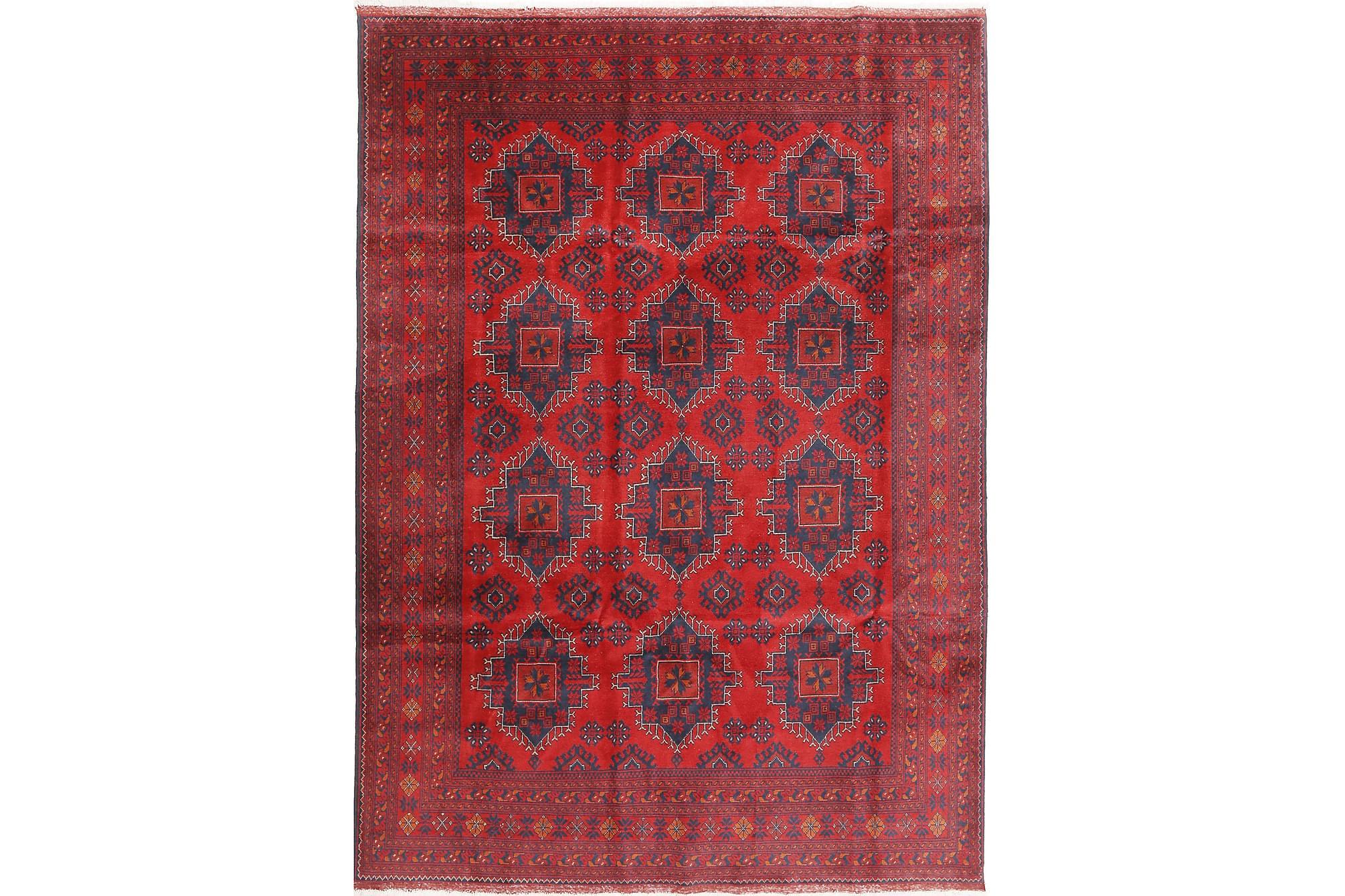 AFGHAN Matta 202x288 Stor Röd, Orientaliska mattor