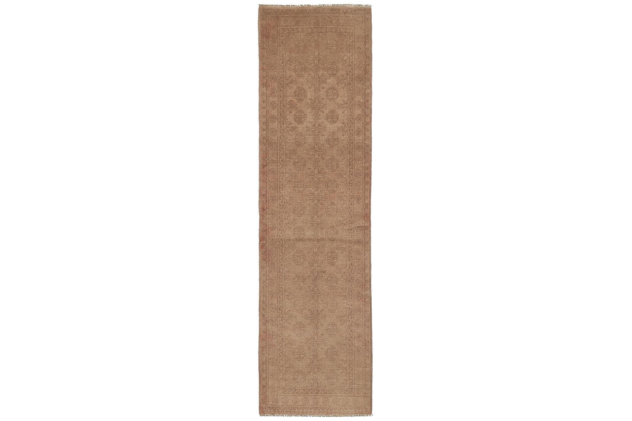 AFGHAN Matta 74x283 Stor Beige/Brun, Orientaliska mattor