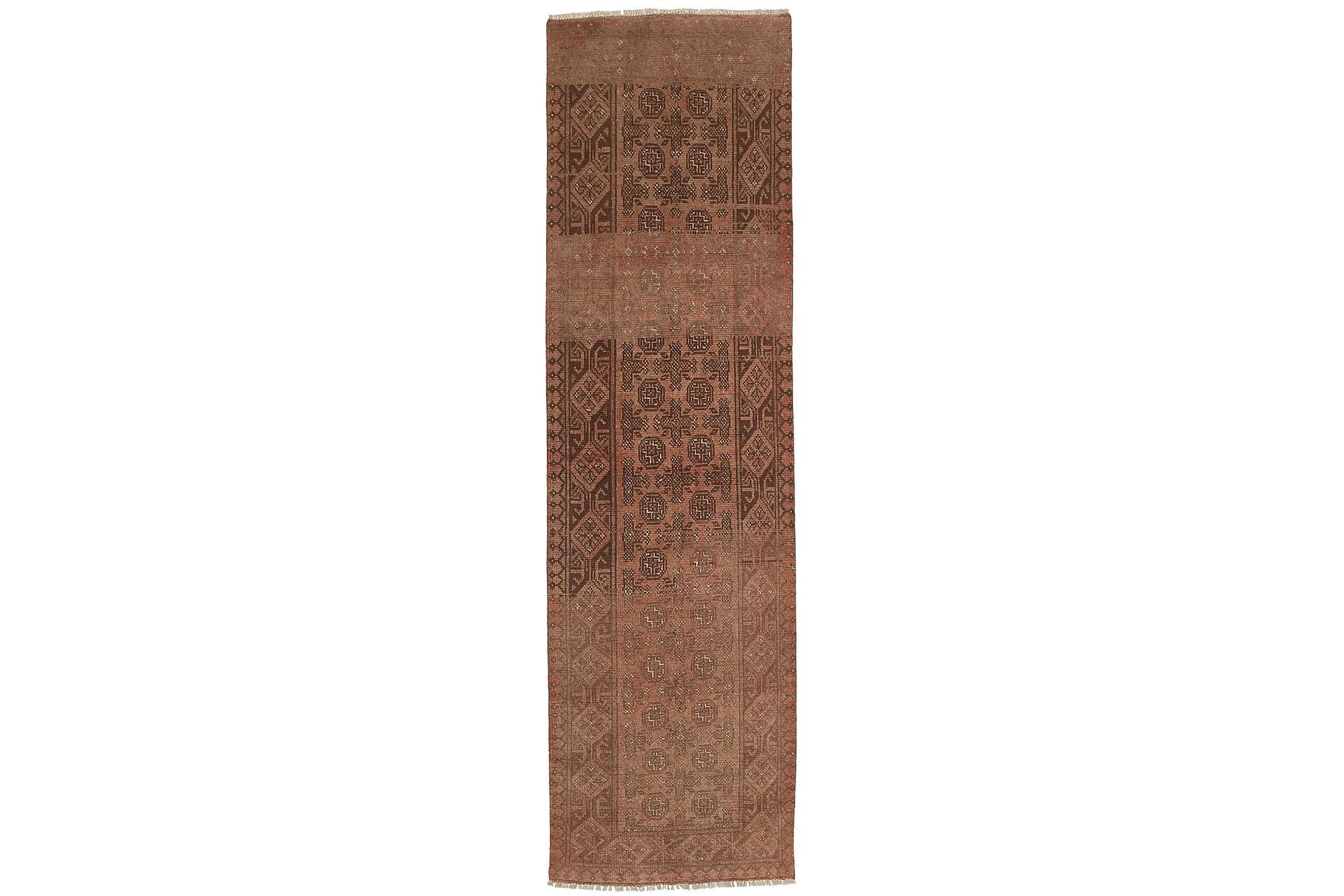 AFGHAN Matta 78x282 Stor Brun, Orientaliska mattor