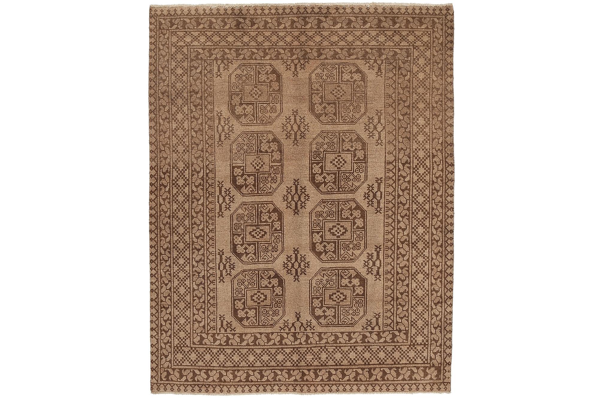 AFGHAN Orientalisk Matta 146×191 Brun