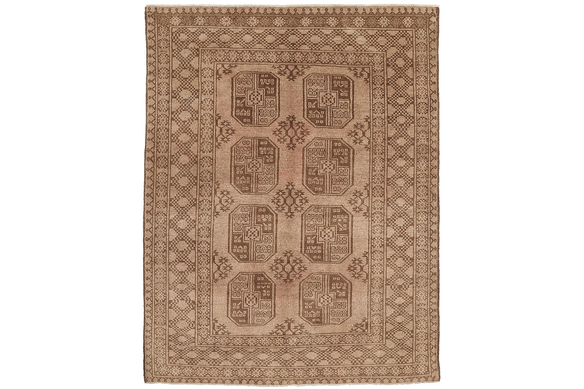 AFGHAN Orientalisk Matta 147x192 Beige/Brun, Orientaliska mattor