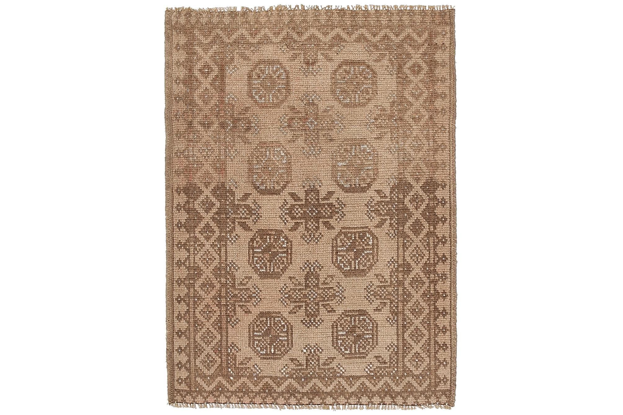 AFGHAN Orientalisk Matta 75x112 Beige/Brun, Orientaliska mattor