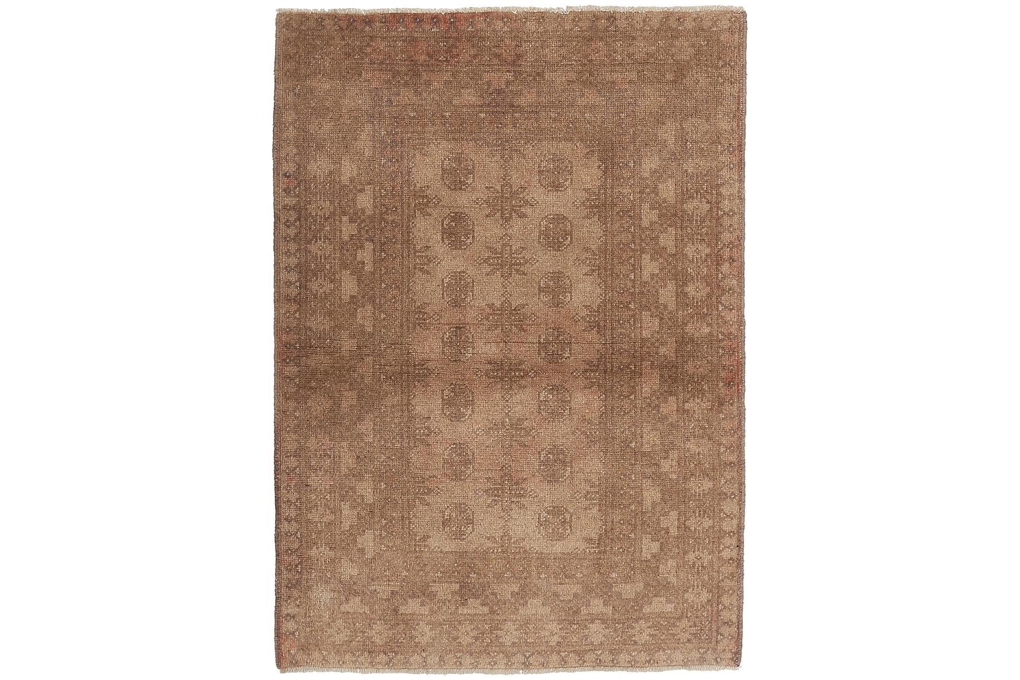 AFGHAN Orientalisk Matta 97×139 Brun