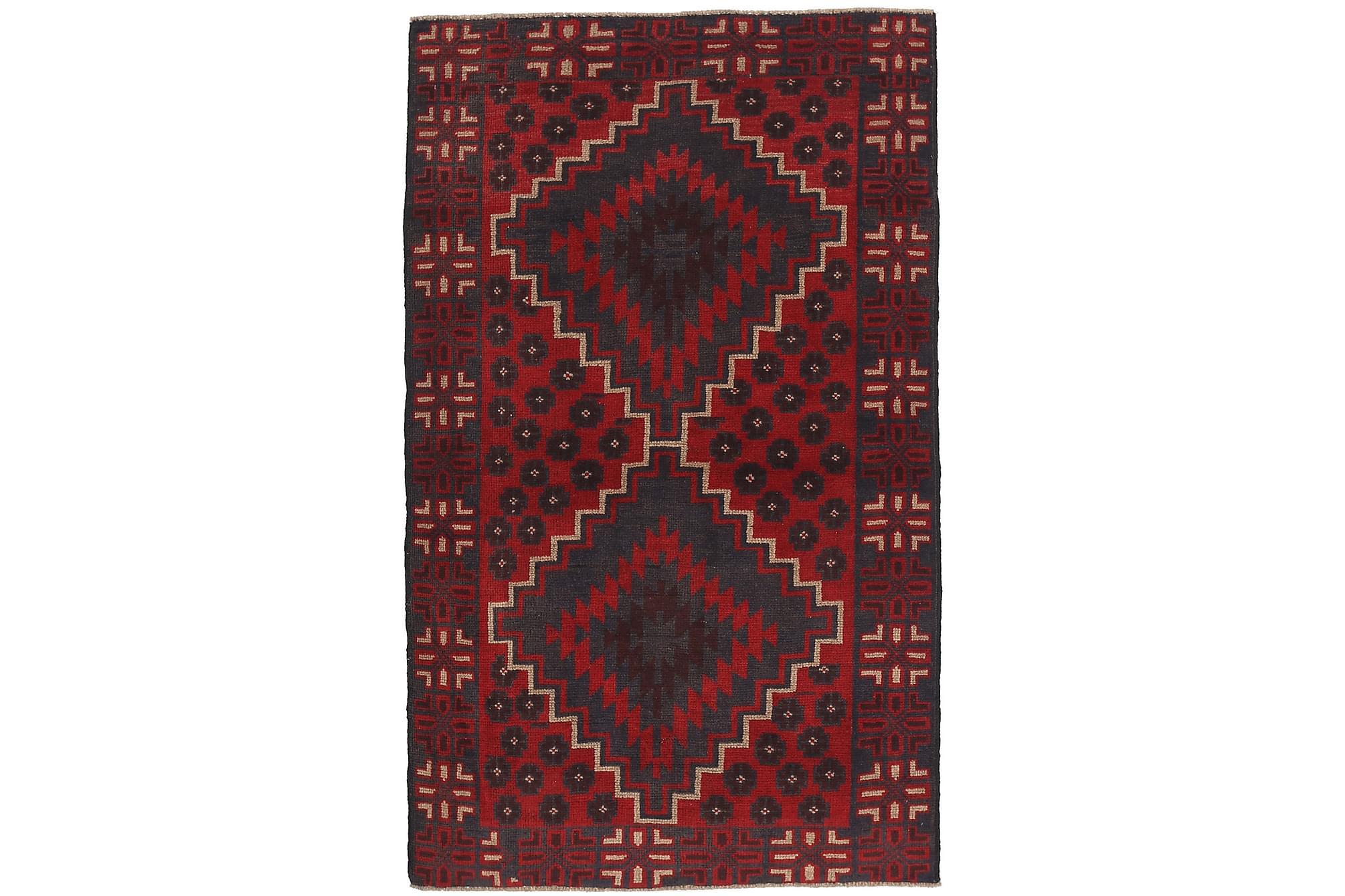 BELUCH Orientalisk Matta 102×180 Röd