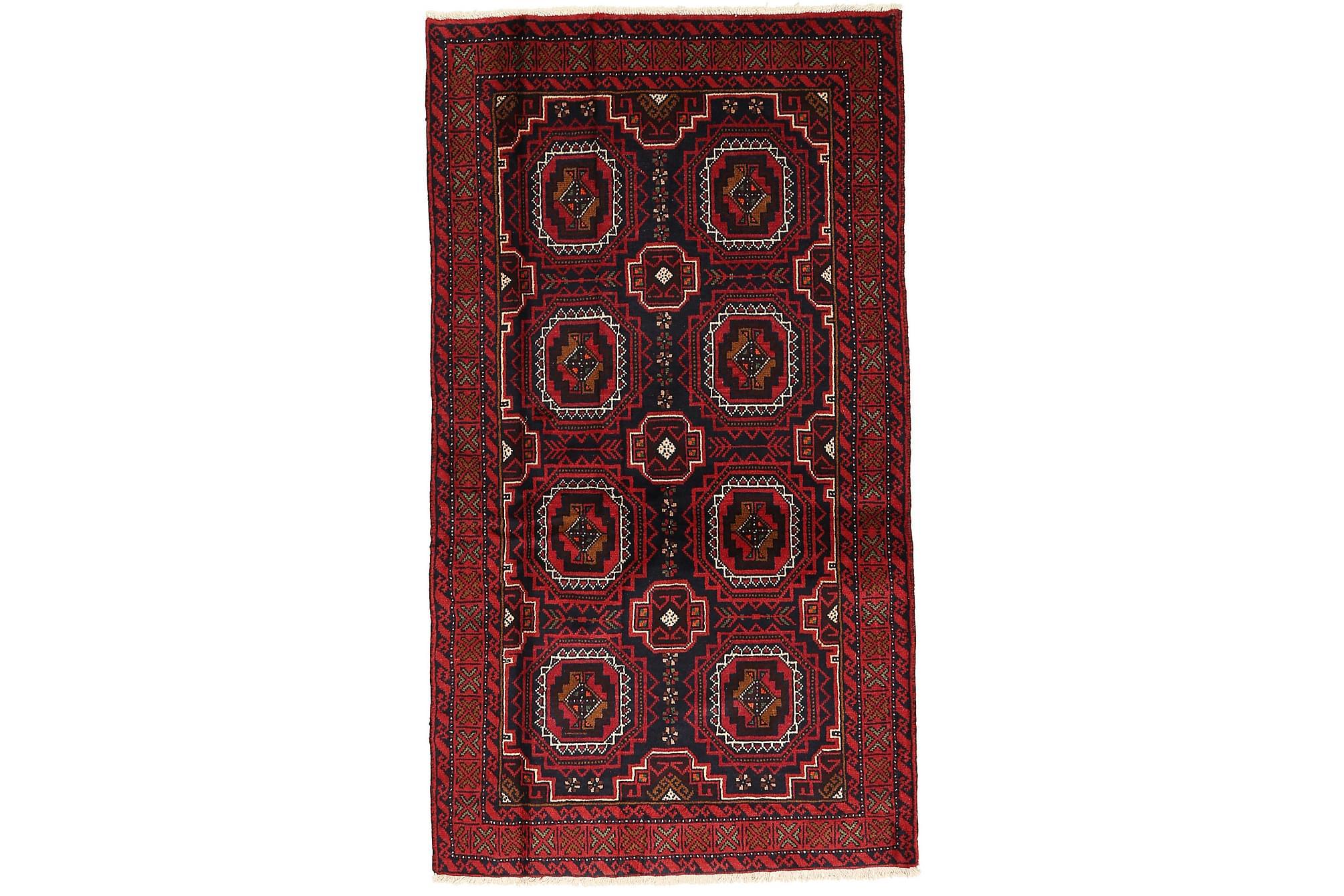 BELUCH Orientalisk Matta 103×181 Persisk Röd