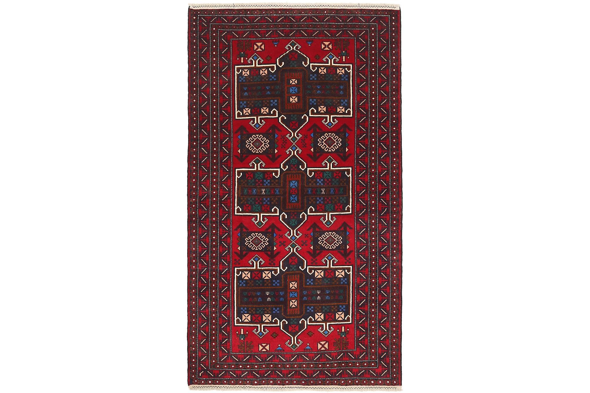 BELUCH Orientalisk Matta 105×201 Röd