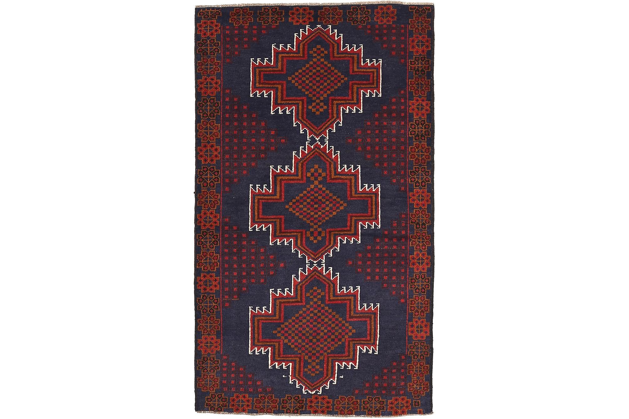 BELUCH Orientalisk Matta 107×190 Röd