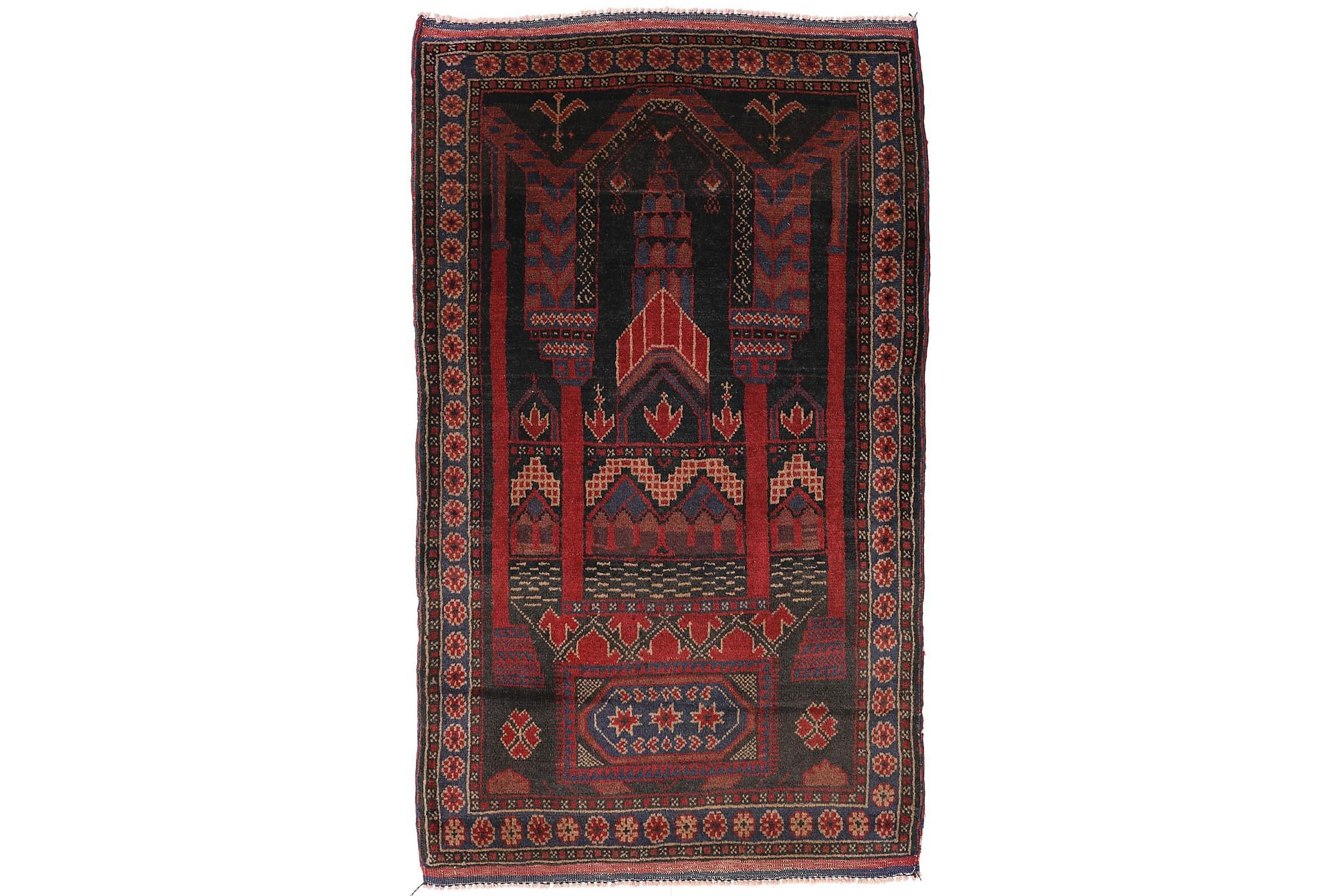 BELUCH Orientalisk Matta 86×146 Röd