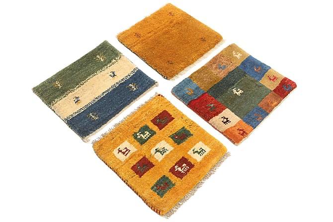 GABBEH Orientalisk Matta 40x40 4-pack Flerfärgad - Inomhus - Mattor - Orientaliska mattor