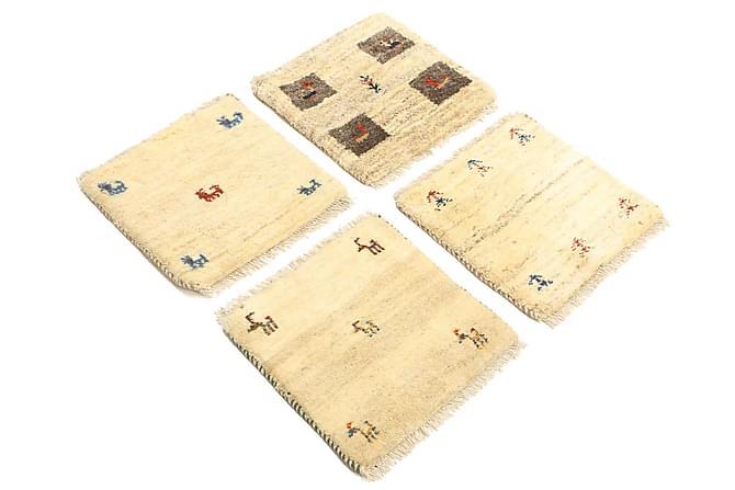 GABBEH Orientalisk Matta 40x40 4-pack Flerfärgad - Möbler & Inredning - Mattor - Orientaliska mattor