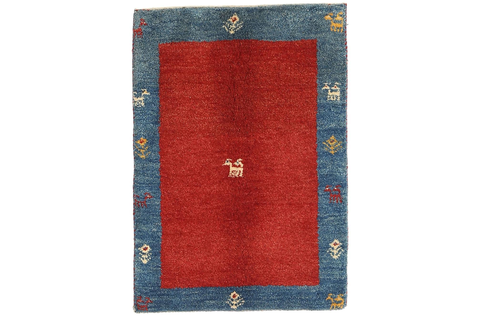 GABBEH Orientalisk Matta 61×90 Blå/Röd