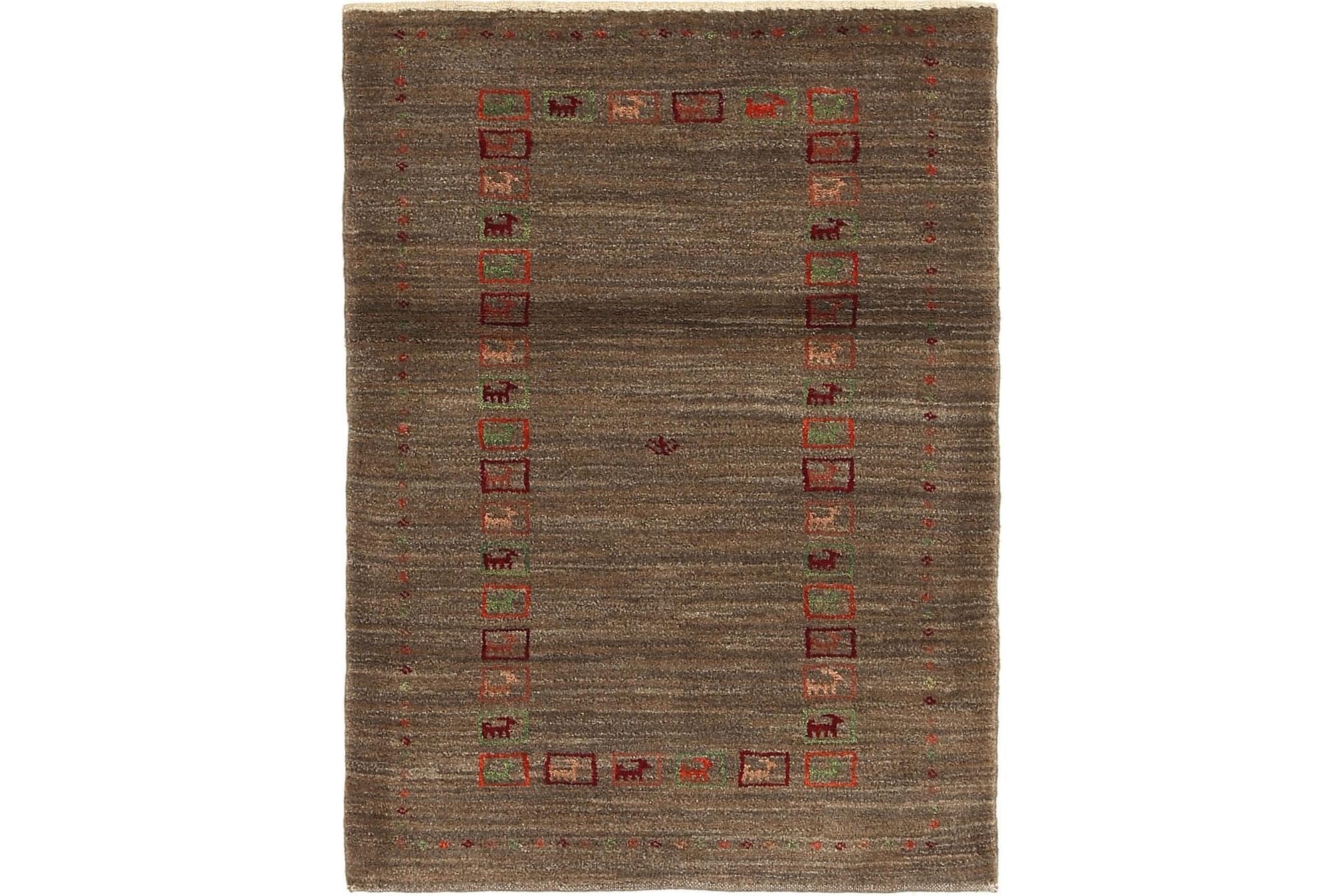 GABBEH Orientalisk Matta 87×119 Flerfärgad