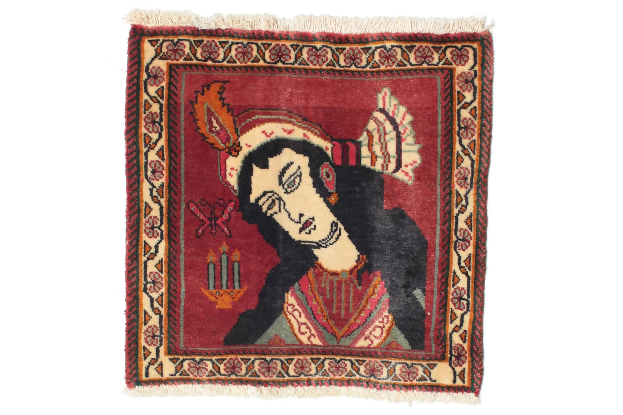 GHASHGHAI Matta 60×60 Röd/Flerfärgad