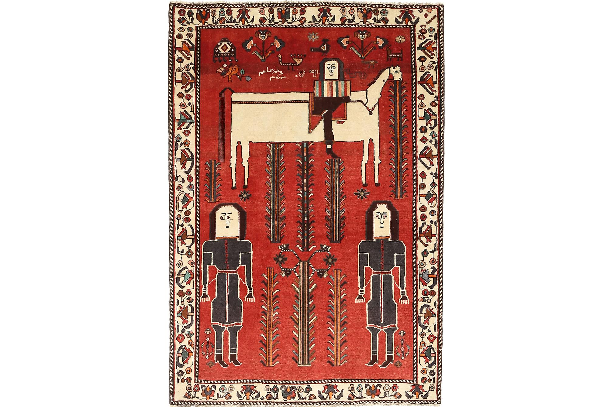 GHASHGHAI Orientalisk Matta 137×202 Persisk Röd