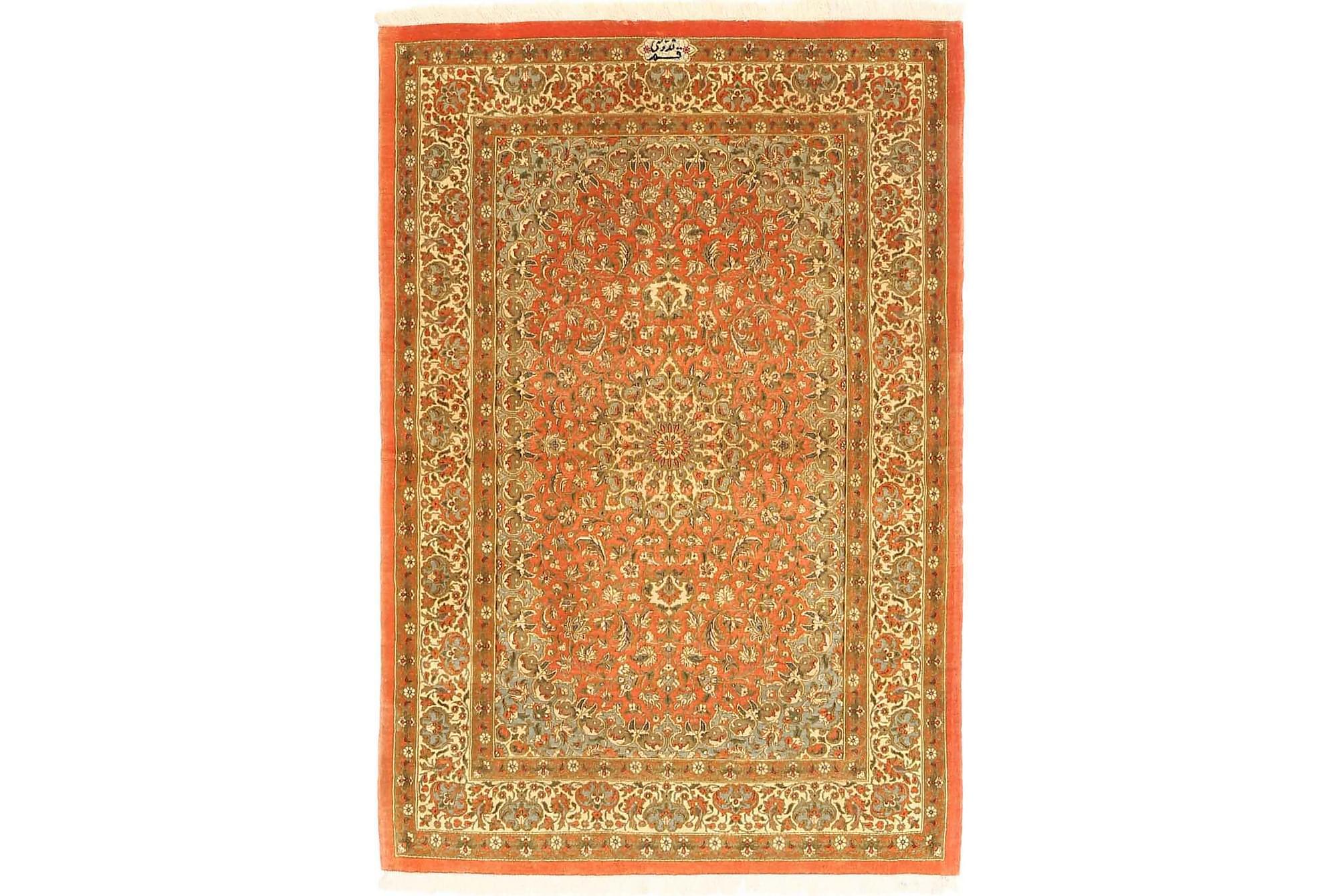 GHOM Orientalisk Matta 96×144 Orange