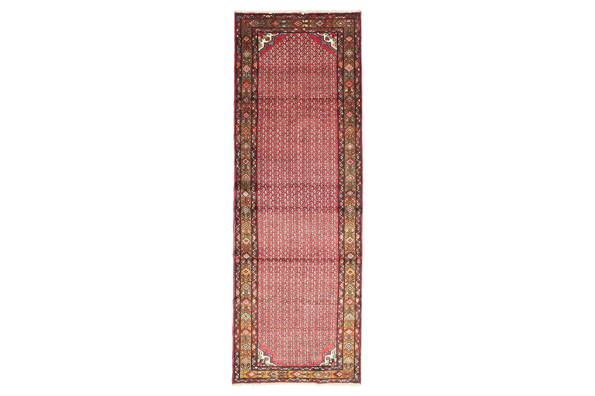 HAMADAN Orientalisk Matta 103×300 Persisk Röd