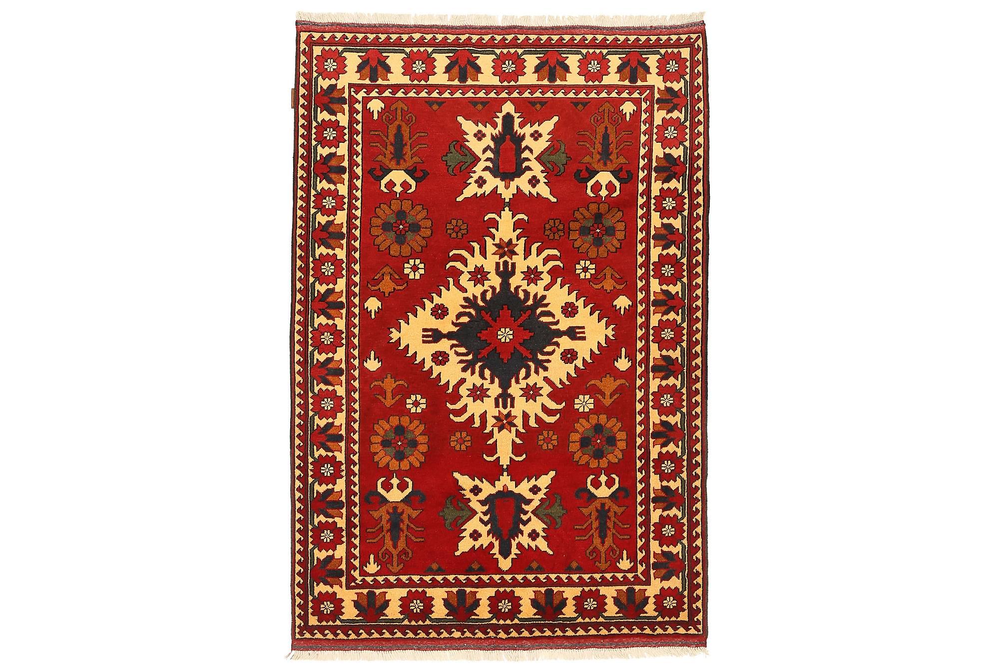 KAZAK Orientalisk Matta 126×192 Flerfärgad