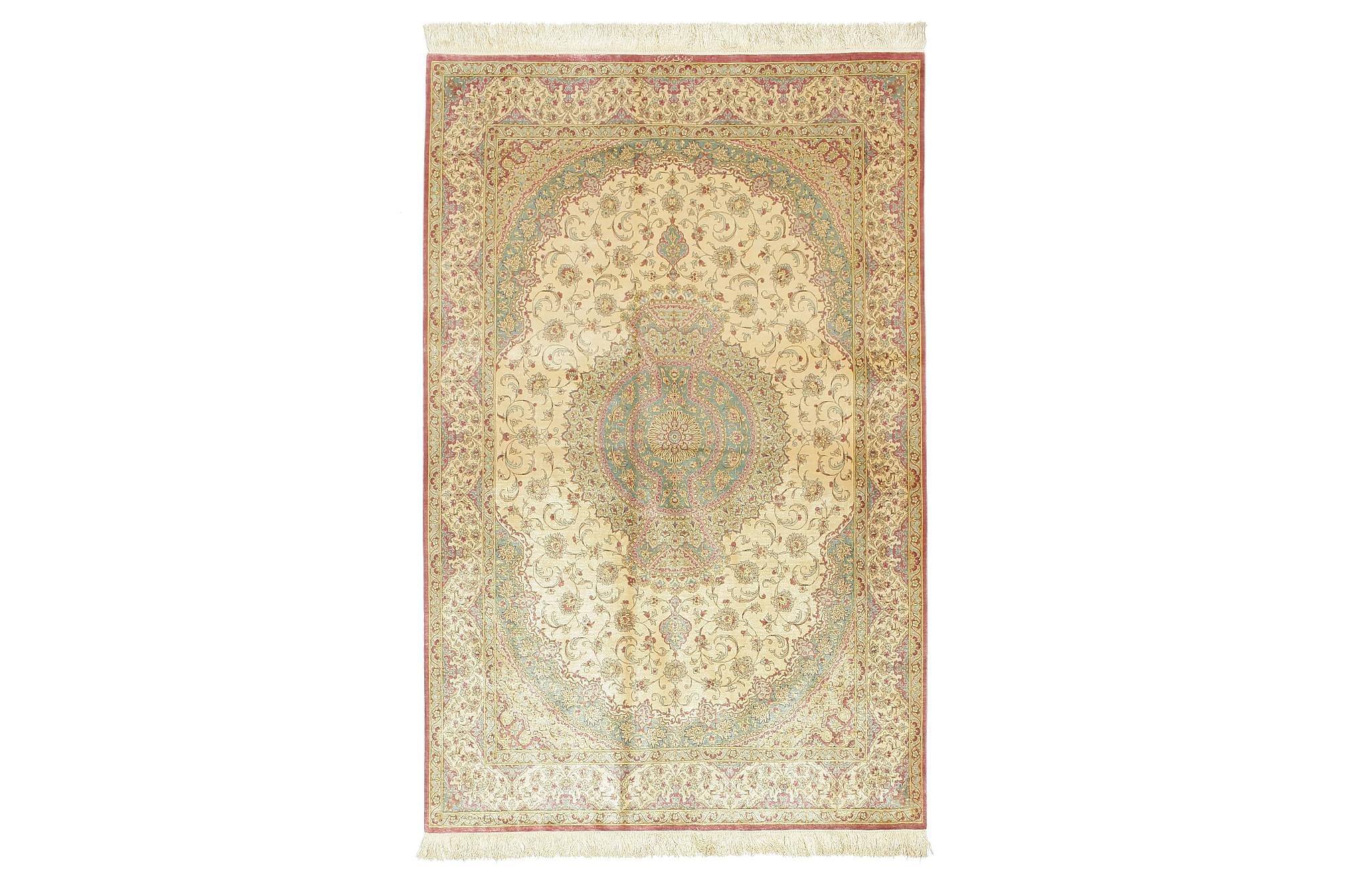 Orientalisk Matta silkes Ghom 128×200