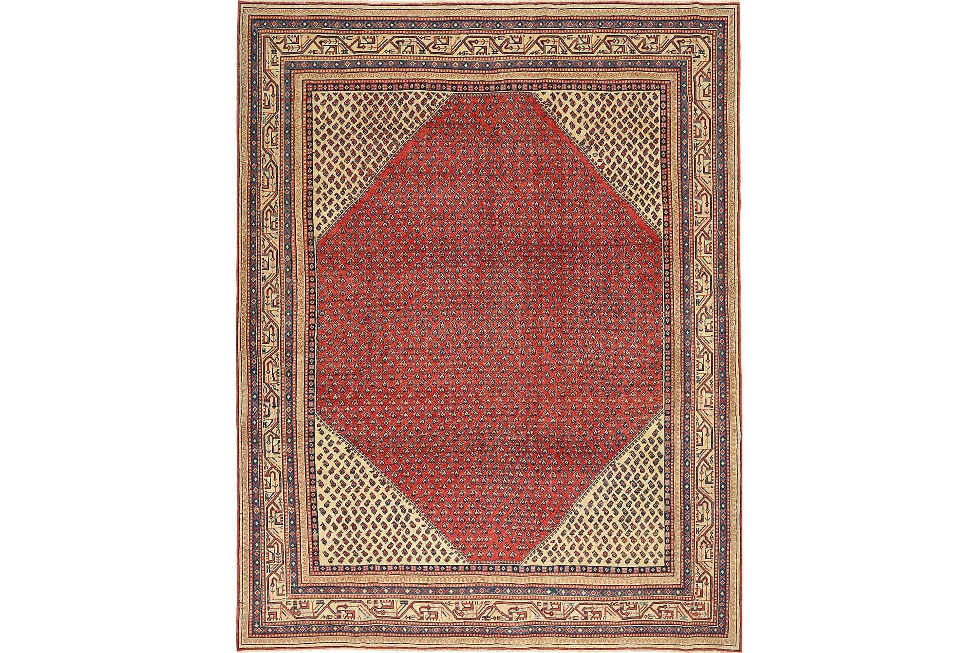 SAROUGH Matta 252×325 Stor Röd