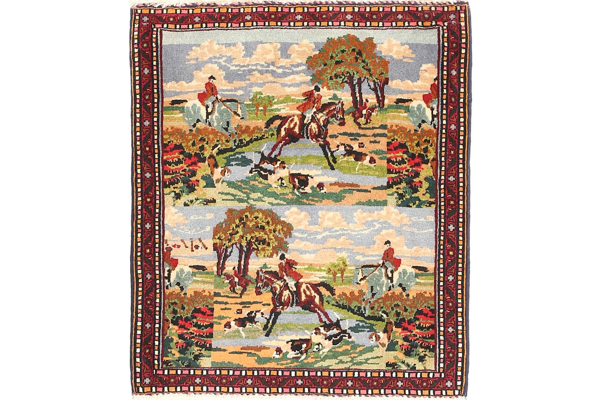 SENNEH Orientalisk Matta 72×90 Flerfärgad