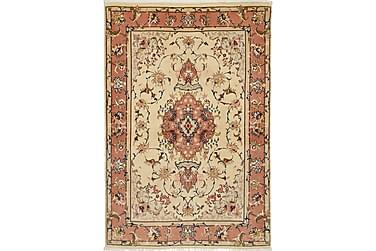 TABRIZ Orientalisk Silkesmatta 100x145 Flerfärgad