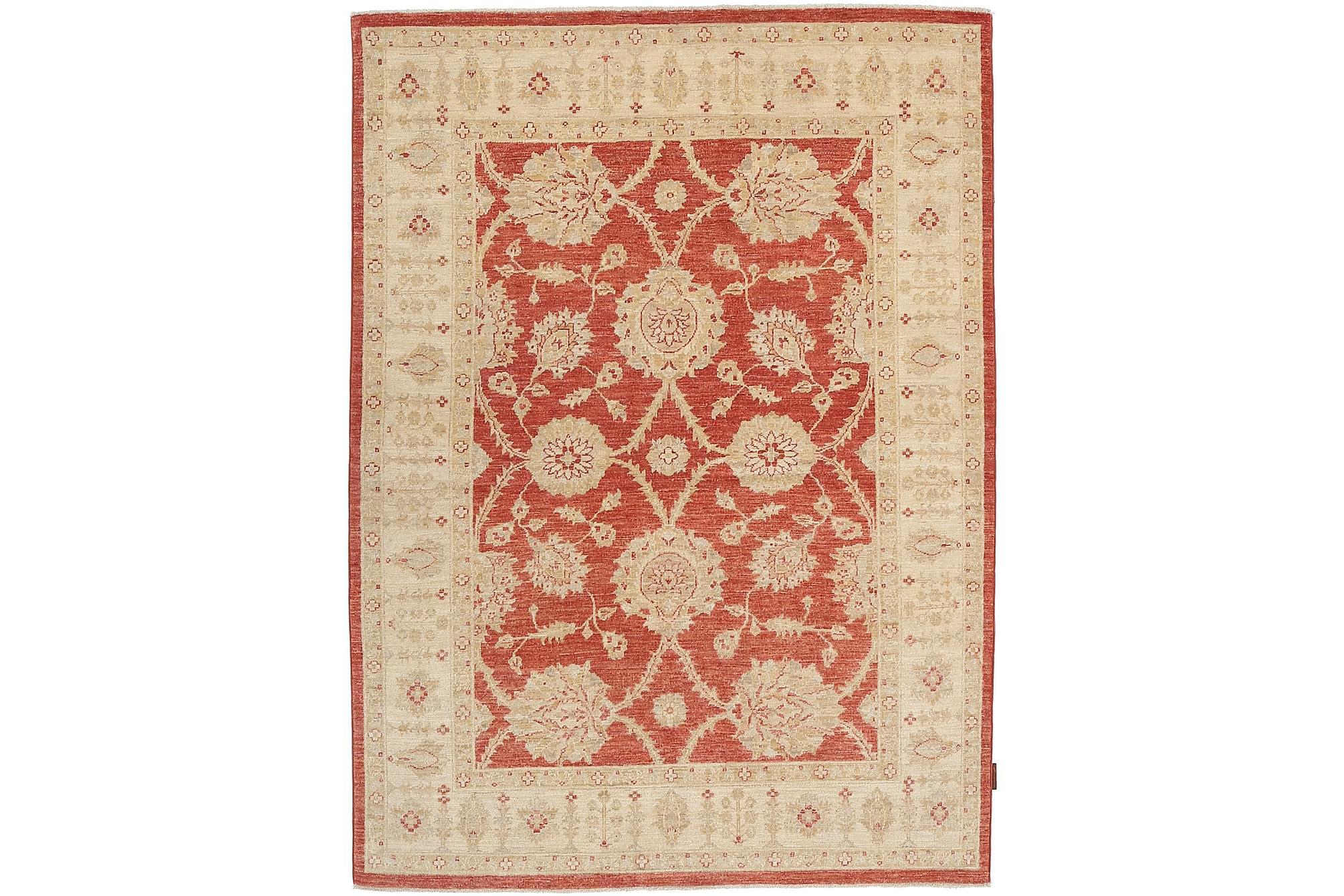 ZIEGLER Orientalisk Matta 150×205 Beige/Röd