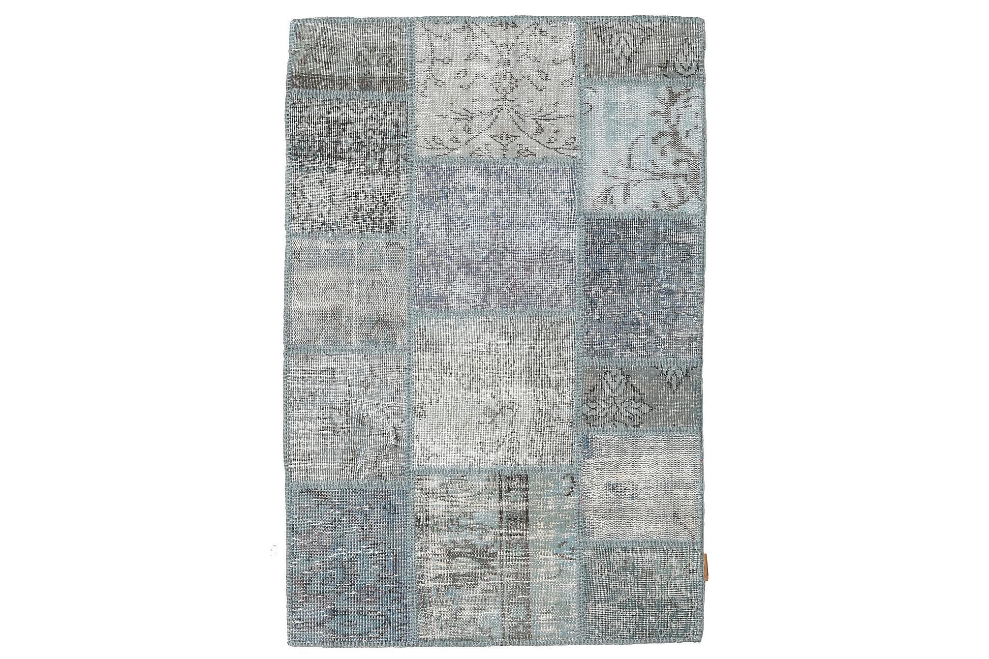 AGADIR Patchworkmatta 100x150 Modern Grå, Patchwork mattor