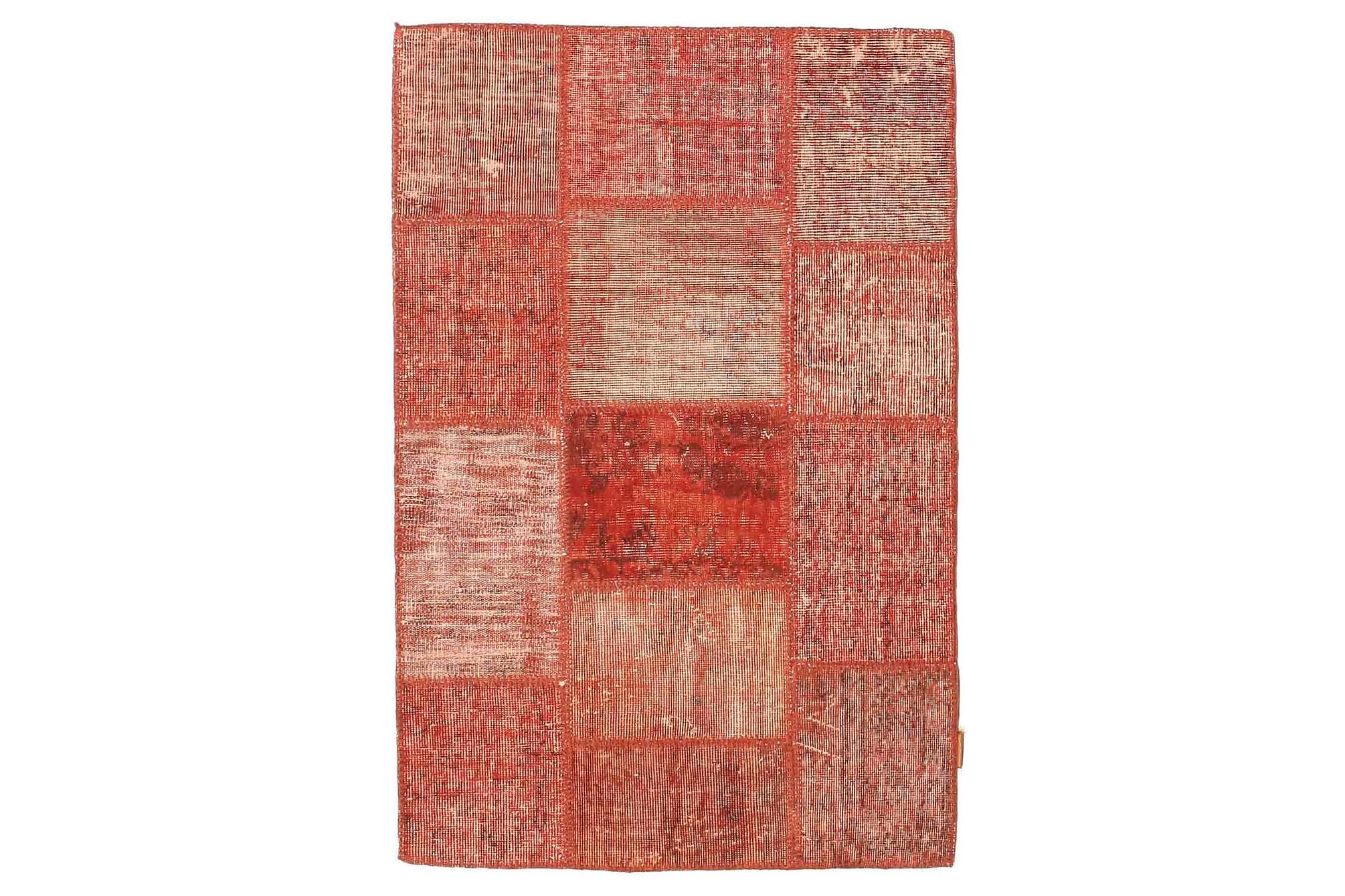AGADIR Patchworkmatta 100x150 Modern Röd, Patchwork mattor