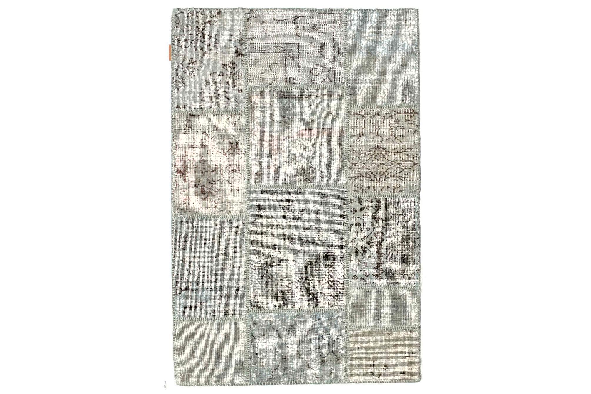 AGADIR Patchworkmatta 100x151 Modern Beige/Grå, Patchwork mattor