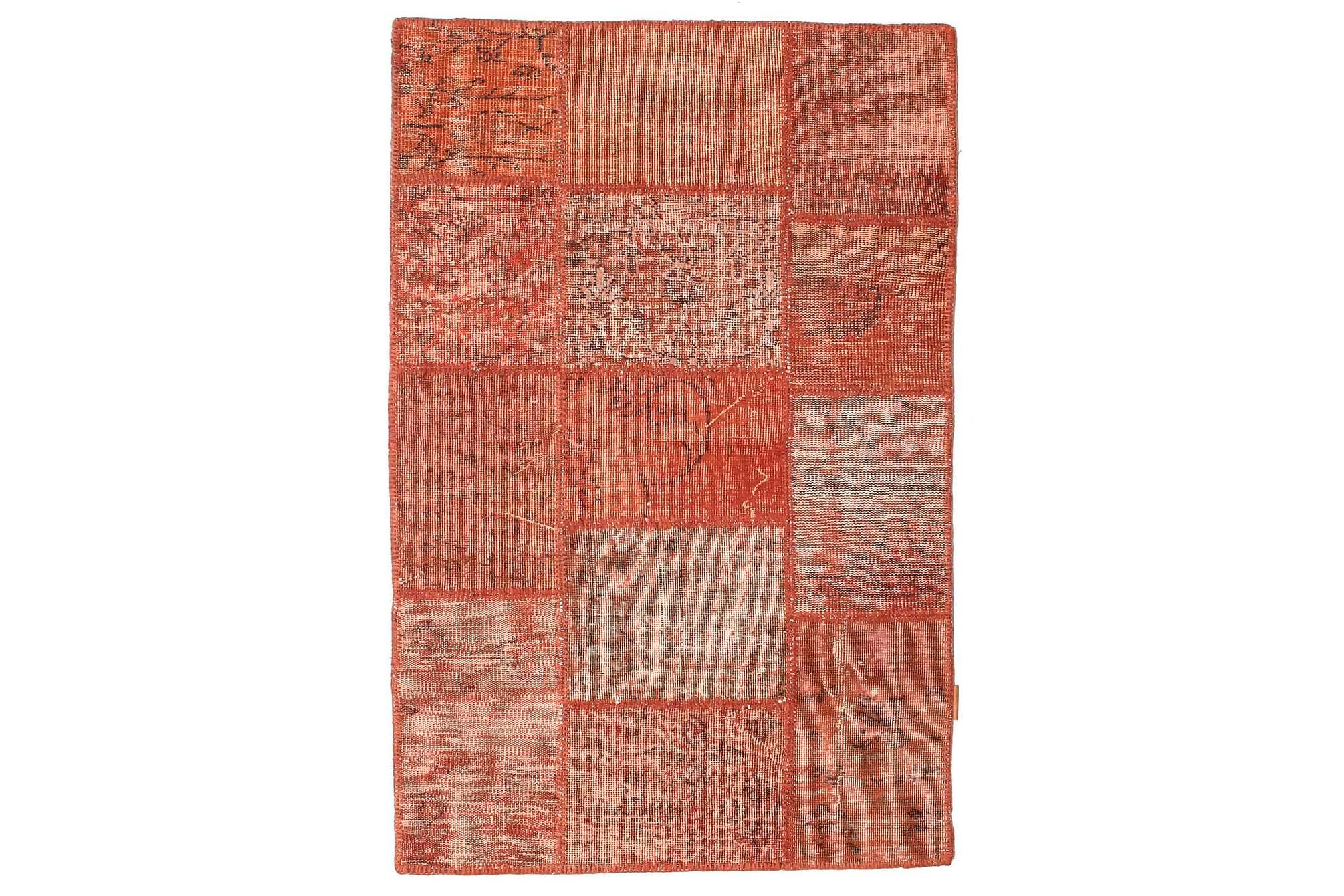 AGADIR Patchworkmatta 100x152 Modern Röd, Patchwork mattor