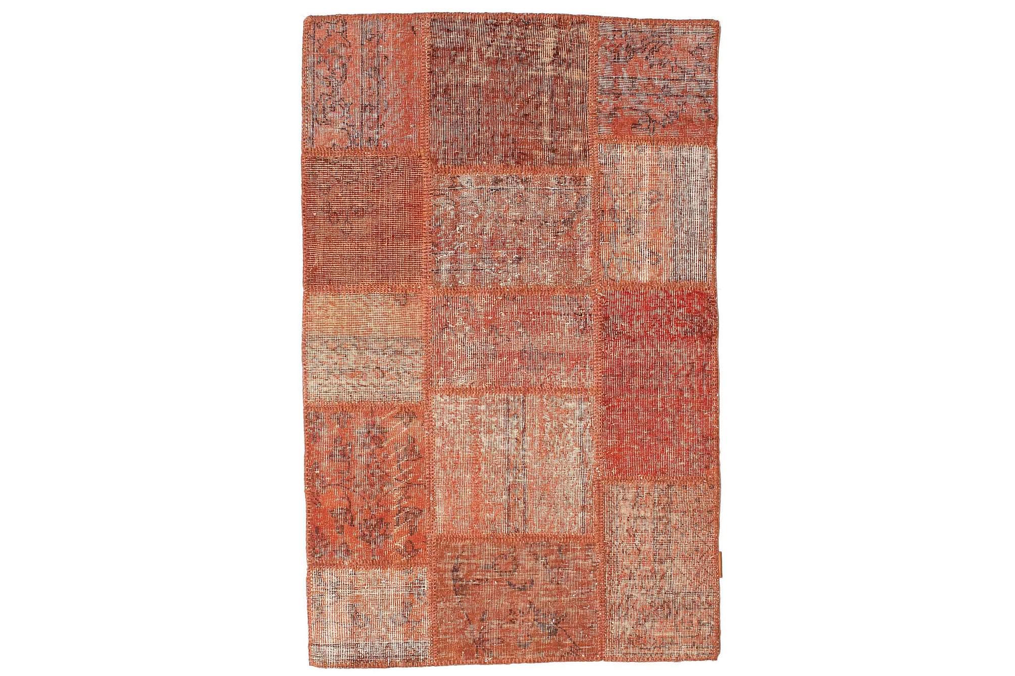 AGADIR Patchworkmatta 100x156 Modern Röd, Patchwork mattor