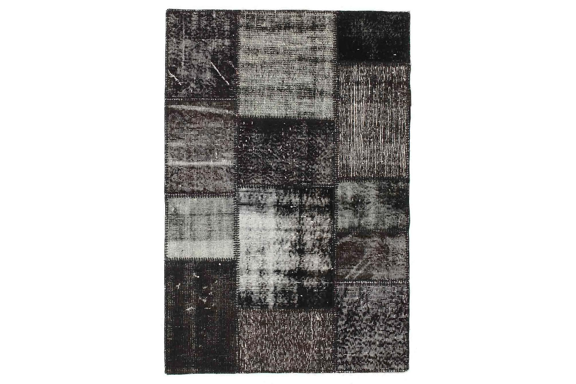 AGADIR Patchworkmatta 101x150 Modern Brun/Grå, Patchwork mattor