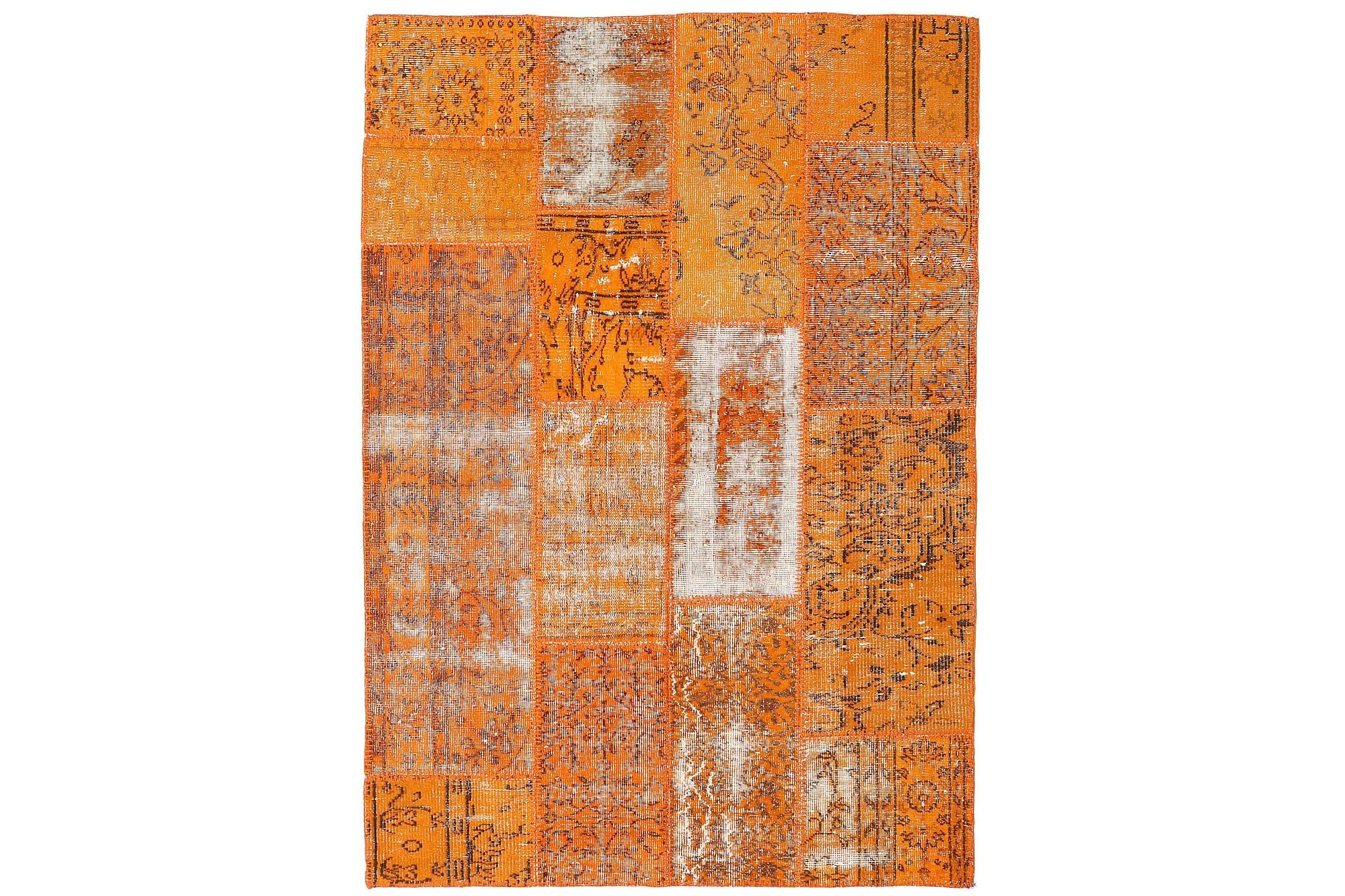 AGADIR Patchworkmatta 120x177 Modern Orange, Patchwork mattor