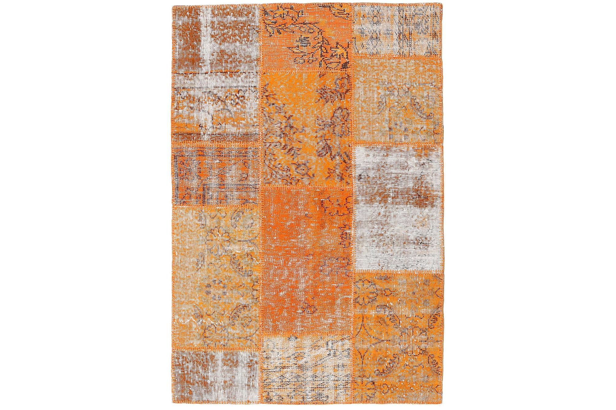 AGADIR Patchworkmatta 120×178 Modern Orange