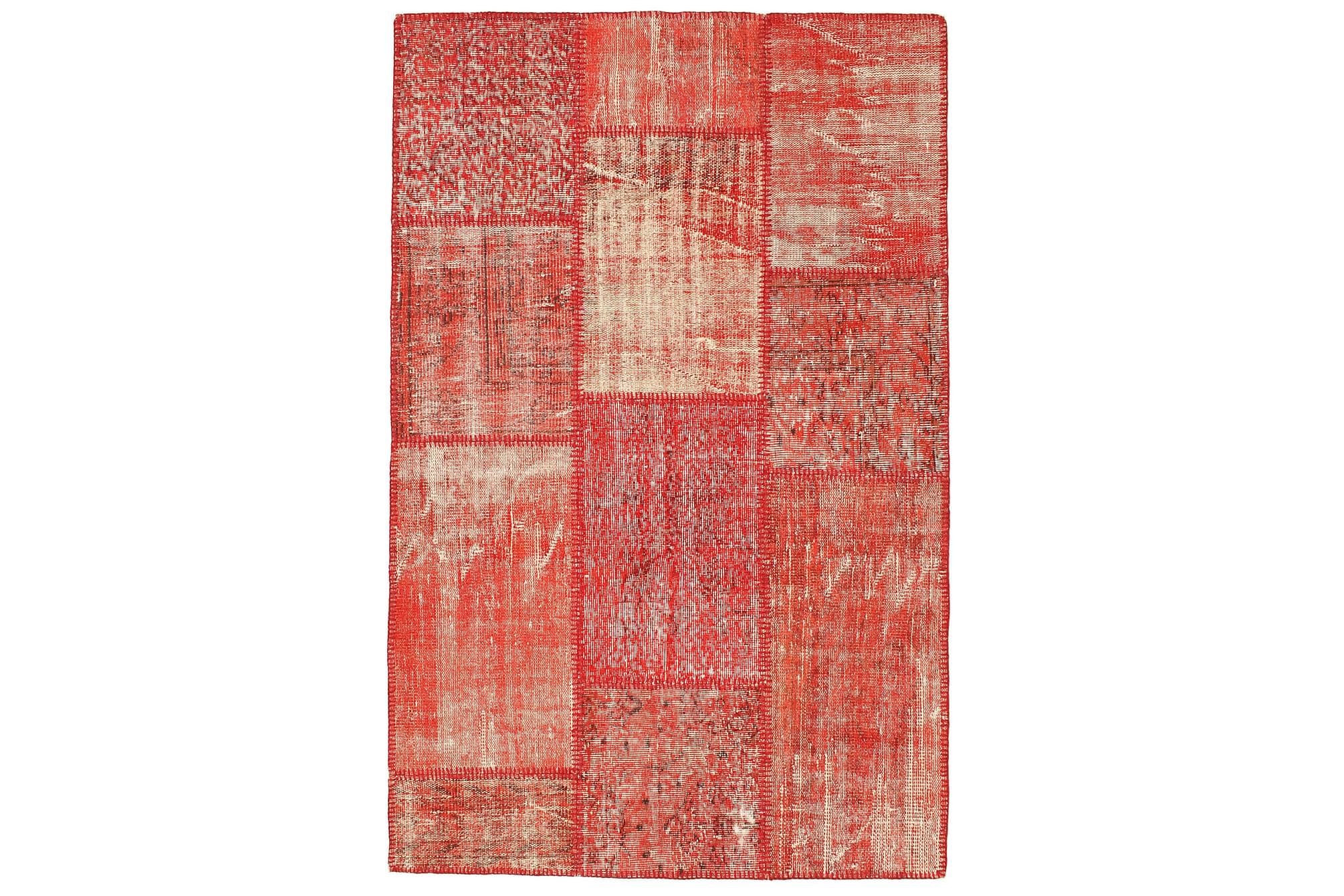 AGADIR Patchworkmatta 120x188 Modern Röd, Patchwork mattor