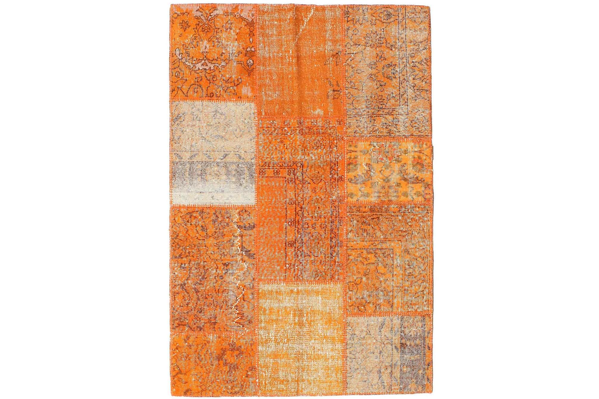AGADIR Patchworkmatta 121x180 Modern Orange, Patchwork mattor