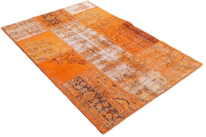 AGADIR Patchworkmatta 121x182 Modern Orange - Inomhus - Mattor - Patchwork mattor