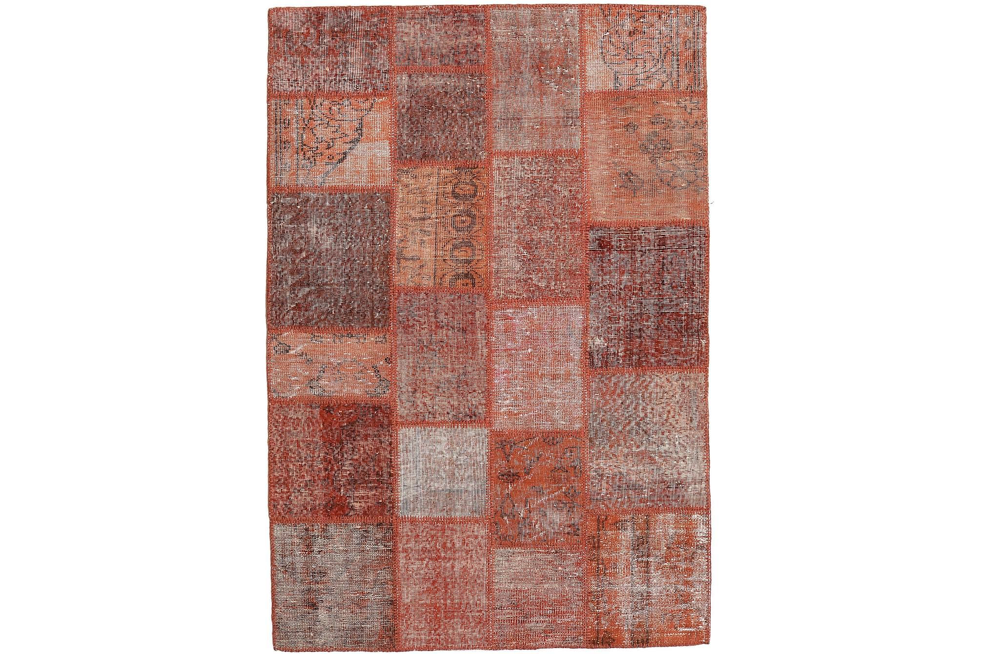 AGADIR Patchworkmatta 137×204 Modern Röd