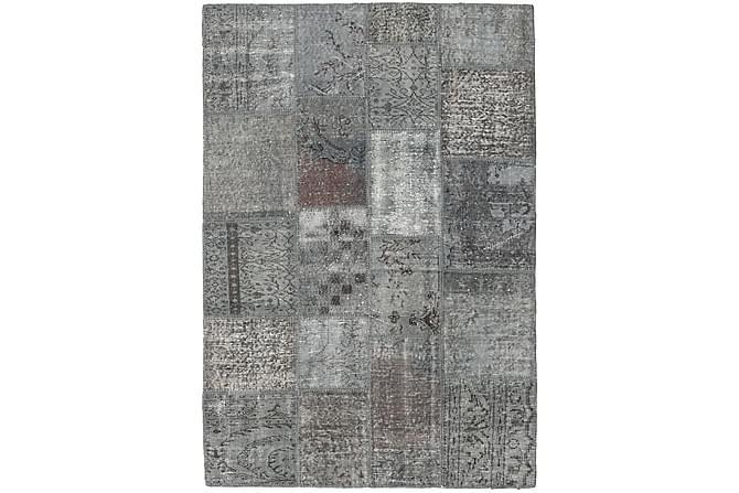 AGADIR Patchworkmatta 138x201 Modern Grå - Inomhus - Mattor - Patchwork mattor