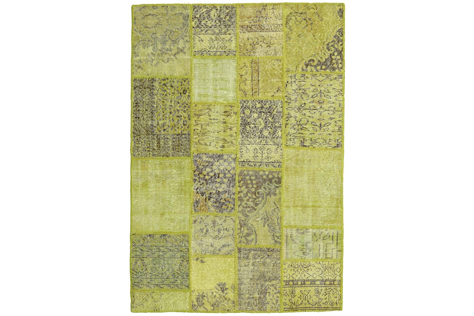 AGADIR Patchworkmatta 138×202 Modern Grön