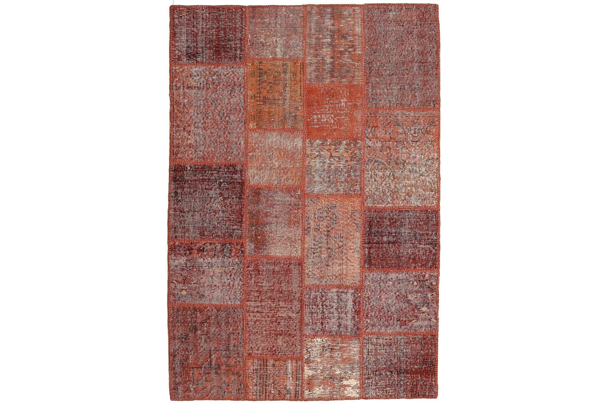 AGADIR Patchworkmatta 138x204 Modern Röd, Patchwork mattor