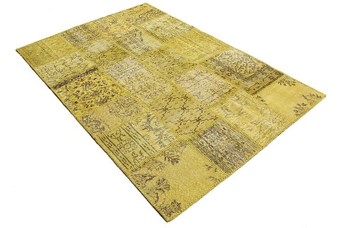 AGADIR Patchworkmatta 138x205 Modern Gul - Inomhus - Mattor - Patchwork mattor