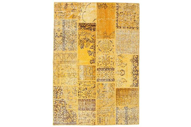 AGADIR Patchworkmatta 139x199 Modern Gul - Inomhus - Mattor - Patchwork mattor