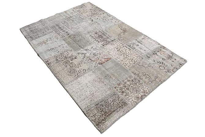 AGADIR Patchworkmatta 139x202 Modern Beige/Grå - Inomhus - Mattor - Patchwork mattor