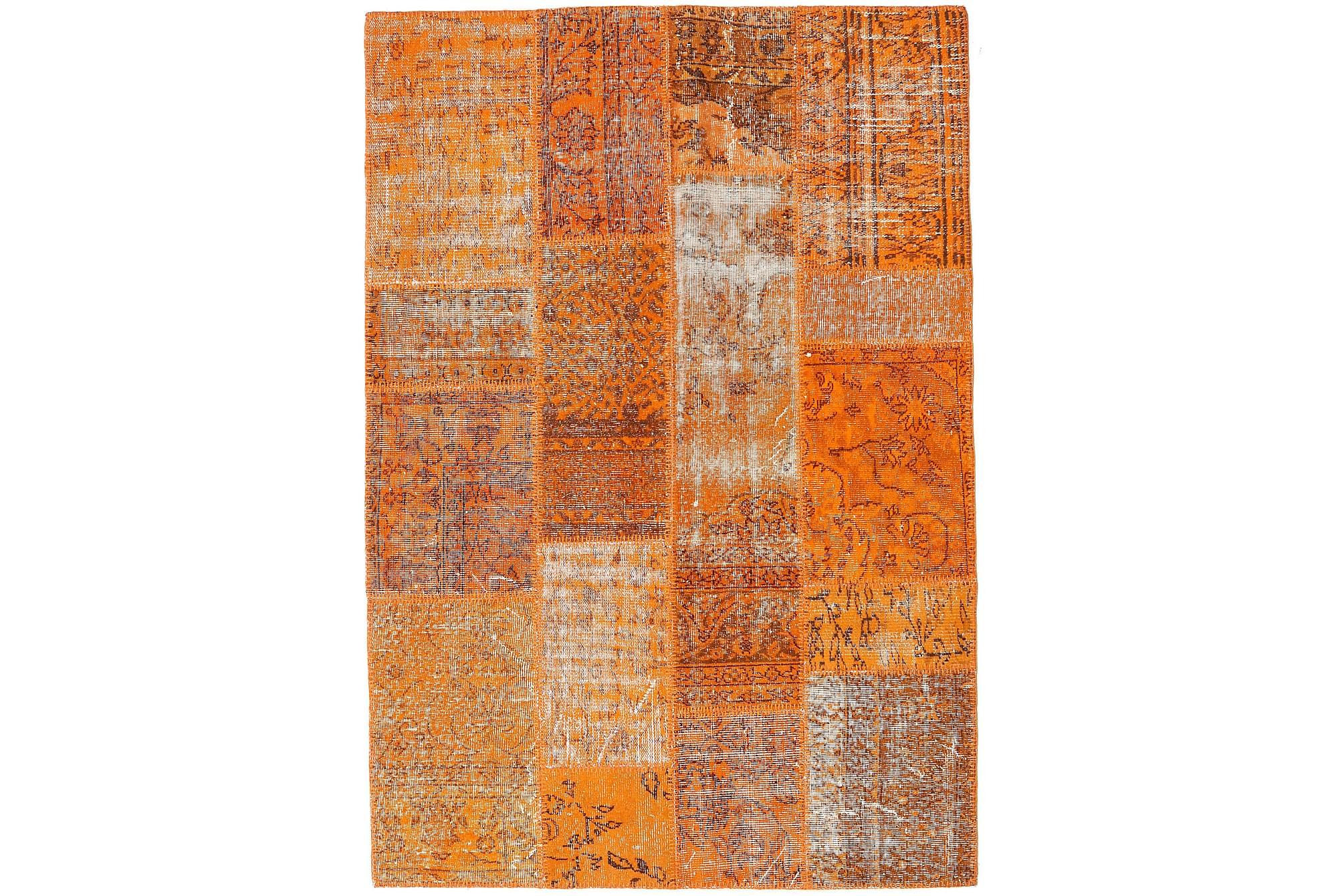 AGADIR Patchworkmatta 141×204 Modern Orange